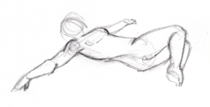 Lying Knee Roll Over Stretch by Aimee Cozza
