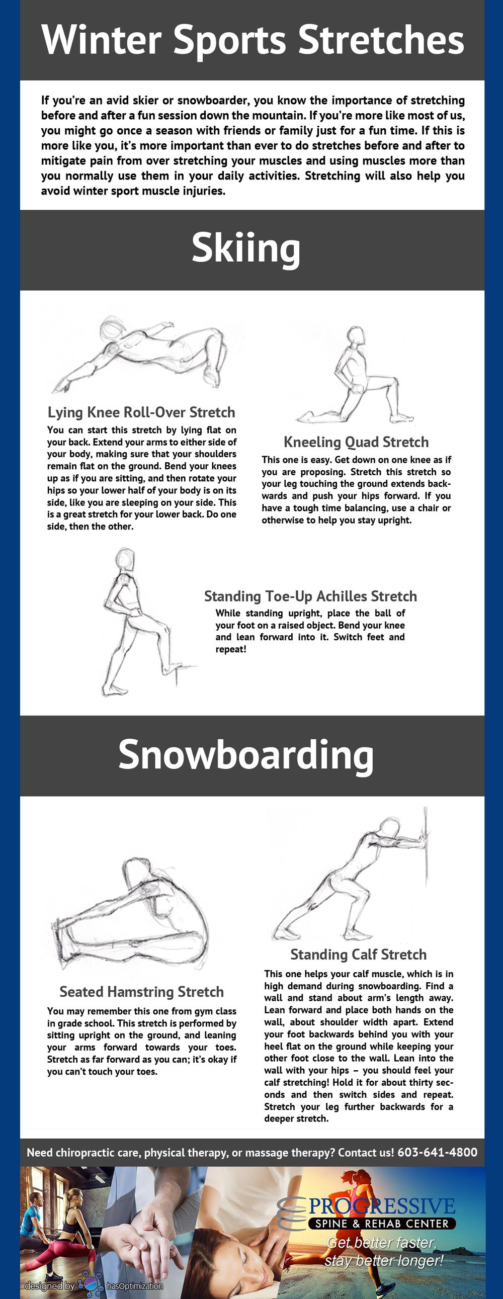 Progressive Spine Winter Sports Stretches