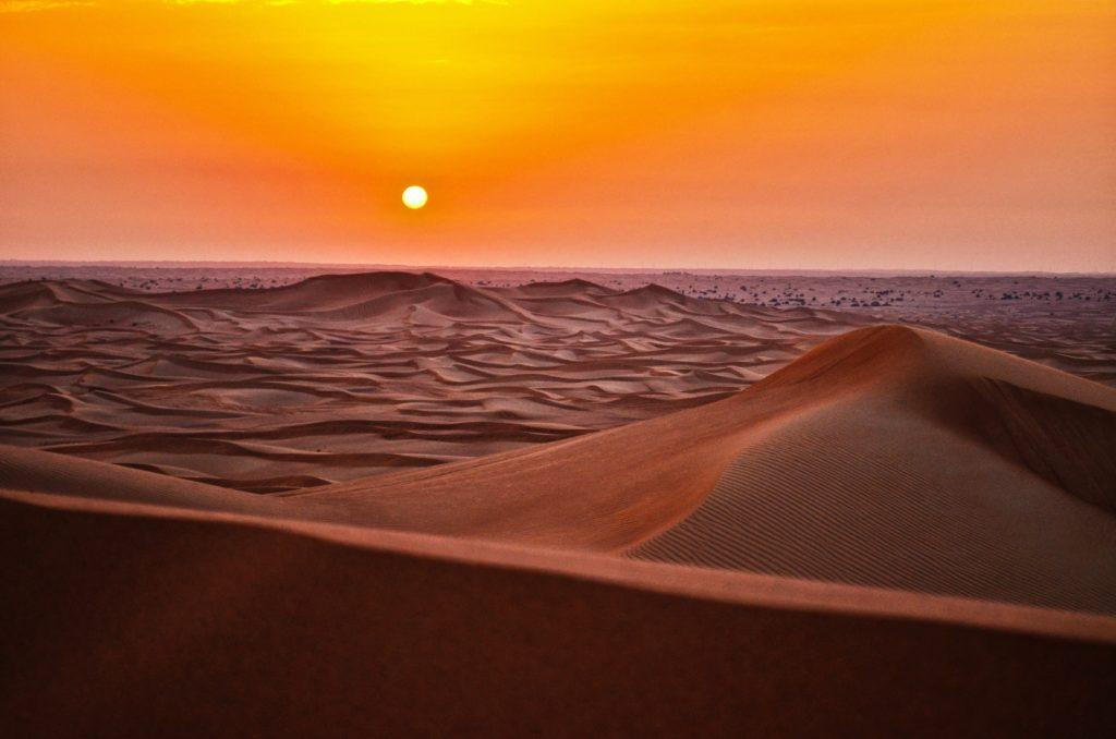 Hot desert landscape